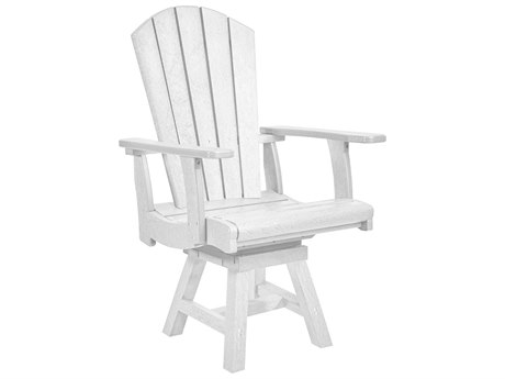 C.R. Plastic Generation Recycled Plastic Addy Swivel Adirondack Arm Chair PatioLiving