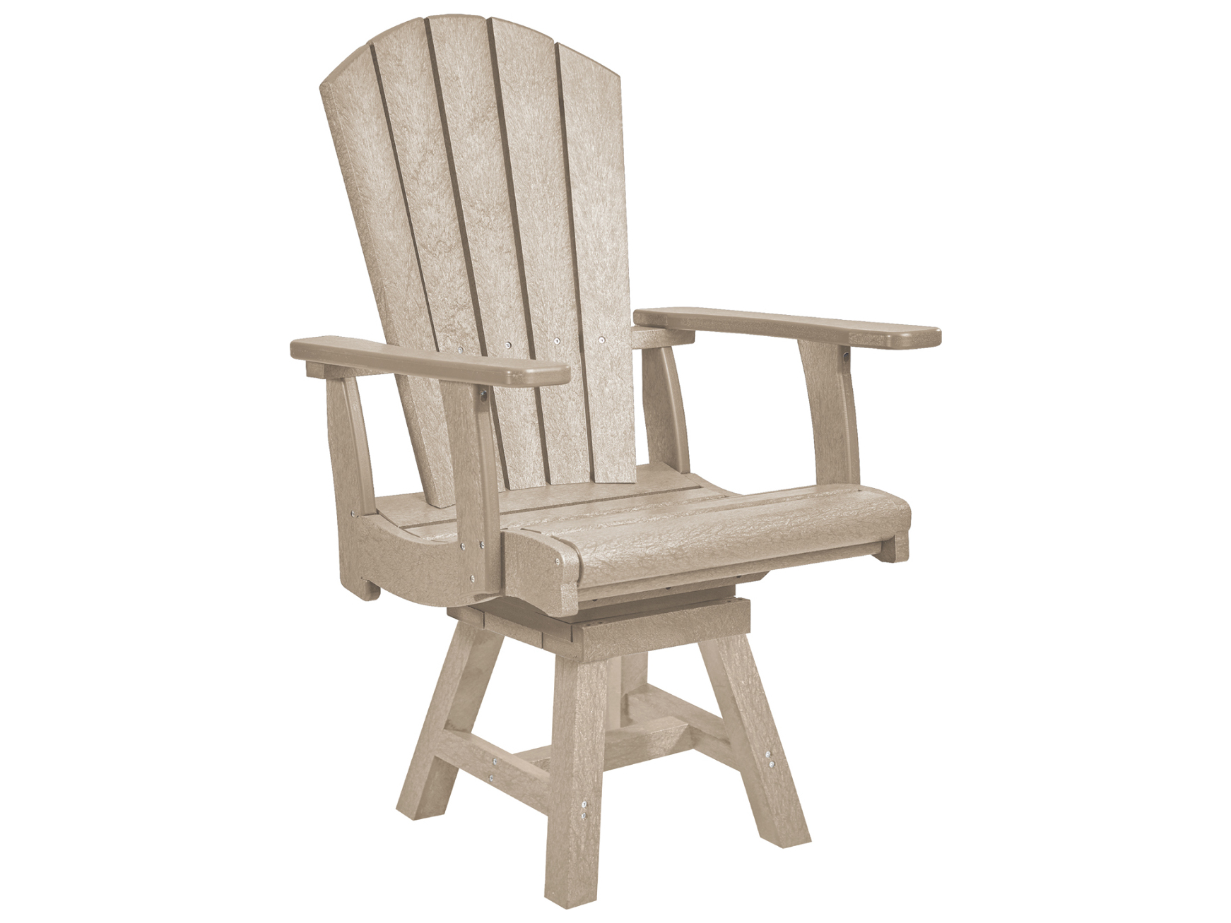 ... C.R. Plastic Generation Recycled Plastic Addy Swivel Adirondack Arm  Chair ...