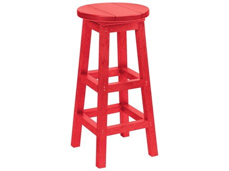 C.R. Plastic Generation Recycled Plastic Swivel Bar Stool PatioLiving