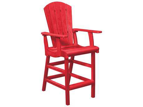 C.R. Plastic Generation Recycled Plastic Dining Adirondack Style Pub Arm Chair