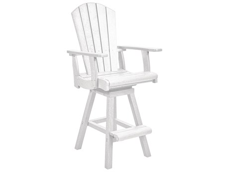 C.R. Plastic Generation Recycled Plastic Swivel Bar Arm Chair PatioLiving