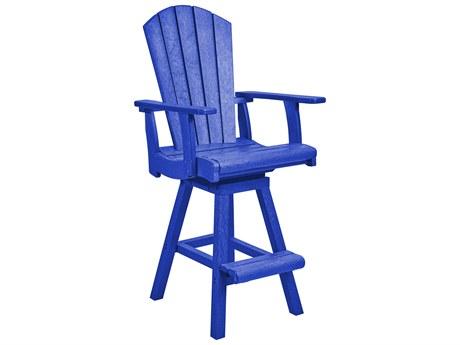 C.R. Plastic Generation Recycled Plastic Swivel Bar Arm Chair