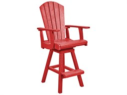Recycled Plastic Swivel Bar Arm Chair - Static