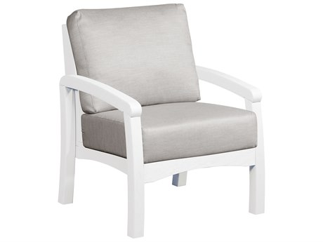 C.R. Plastic Bay Breeze Recycled Plastic Arm Chair with Cushion CRDS161