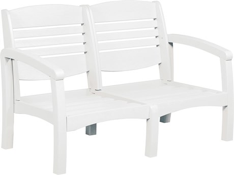 C.R. Plastic Bay Breeze Recycled Plastic Loveseat with Cushion