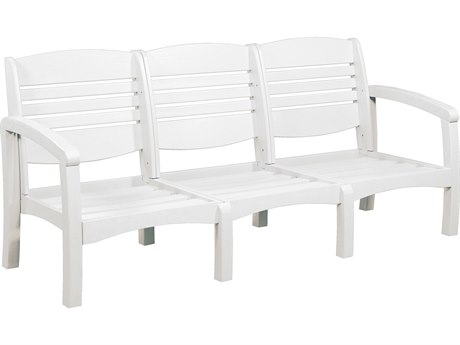 C.R. Plastic Bay Breeze Recycled Plastic Sofa with Cushion