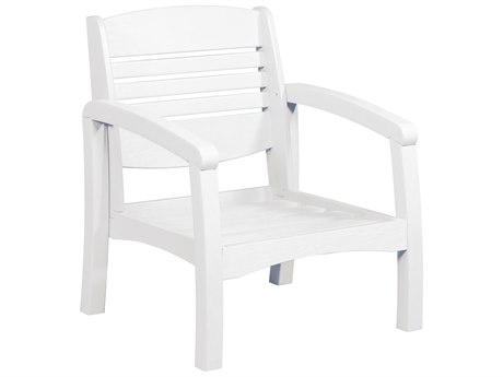 C.R. Plastic Bay Breeze Coastal Deep Seating Recycled Plastic Lounge Chair