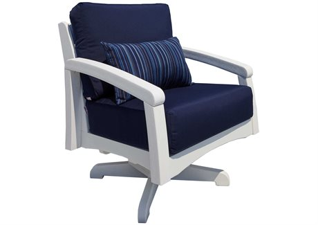 C.R. Plastic Bay Breeze Coastal Deep Seating Recycled Cushion Lounge Chair