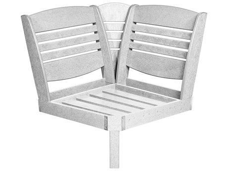 C.R. Plastic Bay Breeze Coastal Deep Seating Recycled Plastic Corner Lounge Chair PatioLiving