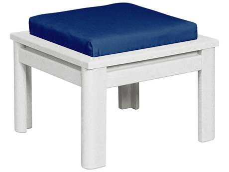 C.R. Plastic Stratford Recycled Plastic Small Ottoman with Cushion