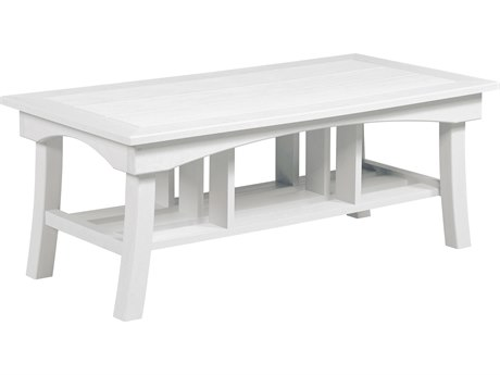 C.R. Plastic Bay Breeze Recycled Plastic 49''W x 25''D Rectangular Coffee Table