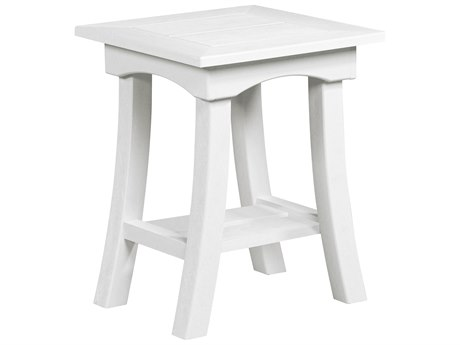 C.R. Plastic Bay Breeze Recycled Plastic 19'' Wide Square End Table