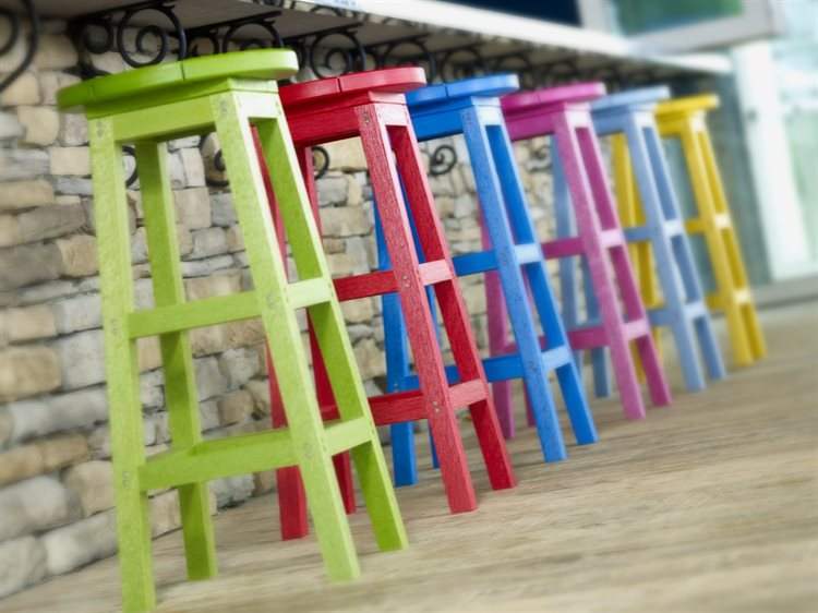 C.R. Plastic Generation Recycled Plastic Swivel Bar Stool Set PatioLiving