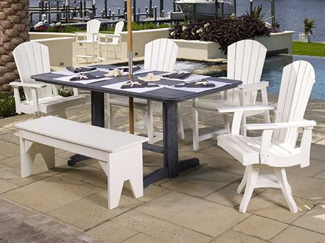 C.R. Plastic Generation Recycled Plastic Casual Patio Dining Set
