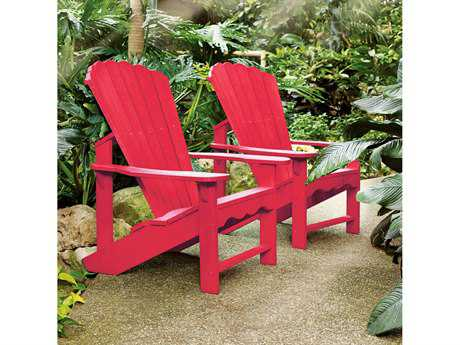 C.R. Plastic Generation Recycled Plastic Adirondack Chairs with a Tete A Tete Table