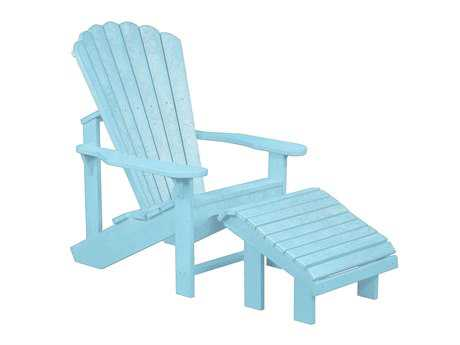 C.R. Plastic Generation Recycled Plastic Adirondack Chair with a Premium Footstool
