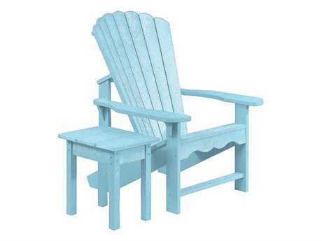 C.R. Plastic Generation Recycled Plastic Adirondack Chair with a Small Table