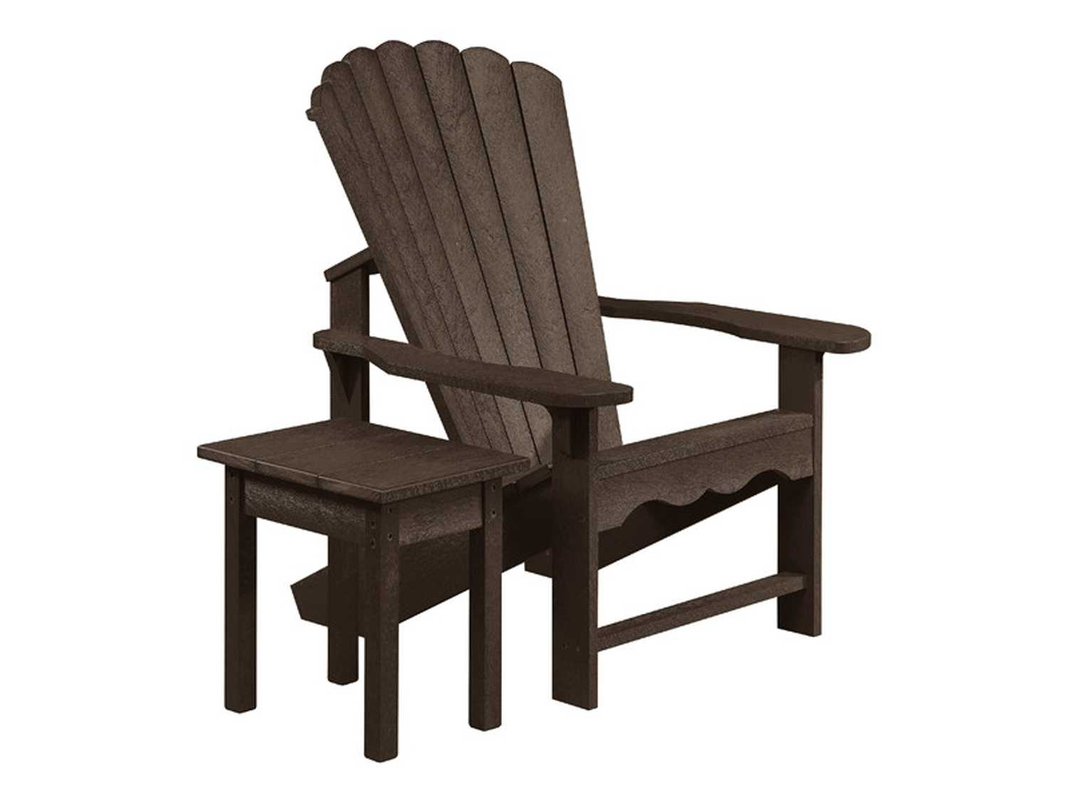 CR Plastic Generation Recycled Plastic Adirondack Chair with a Small Table  -> Petite Table Plastique