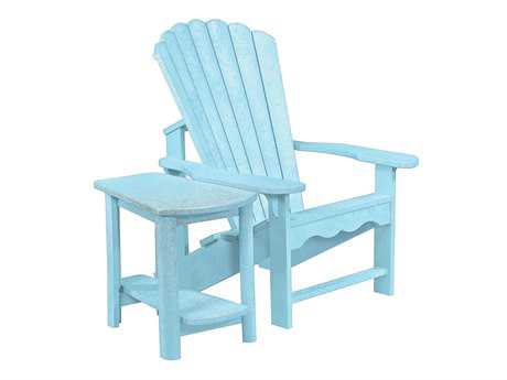 C.R. Plastic Generation Recycled Plastic Adirondack Chair with a Side Table