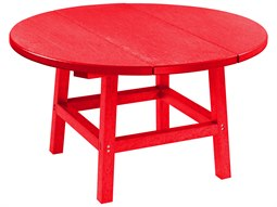 C.R. Plastic Generation Recycled Plastic 32'' Wide Round Cocktail Table