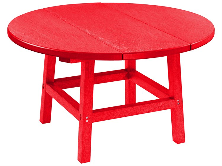 C.R. Plastic Generation Recycled Plastic 32'' Wide Round Cocktail Table PatioLiving