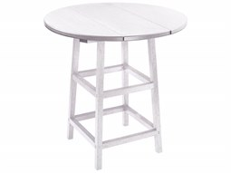 C.R. Plastic Generation Recycled Plastics 32'' Wide Round Bar Table
