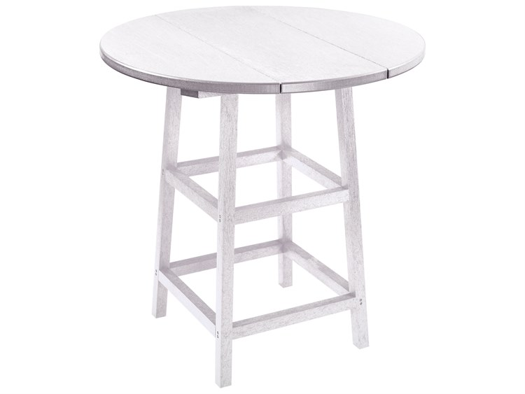 C.R. Plastic Generation Recycled Plastics 32'' Wide Round Bar Table PatioLiving