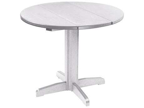 C.R. Plastic Generation Recycled Plastic 32'' Wide Round Pedestal Dining Table