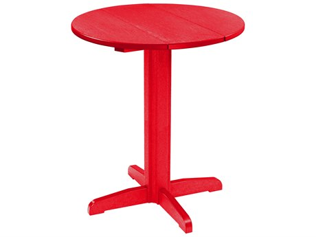 C.R. Plastic Generation 32'' Wide Round Pedestal Bar Table PatioLiving