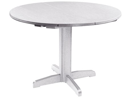 C.R. Plastic Generation Recycled Plastic 40'' Wide Round Pedestal Dining Table