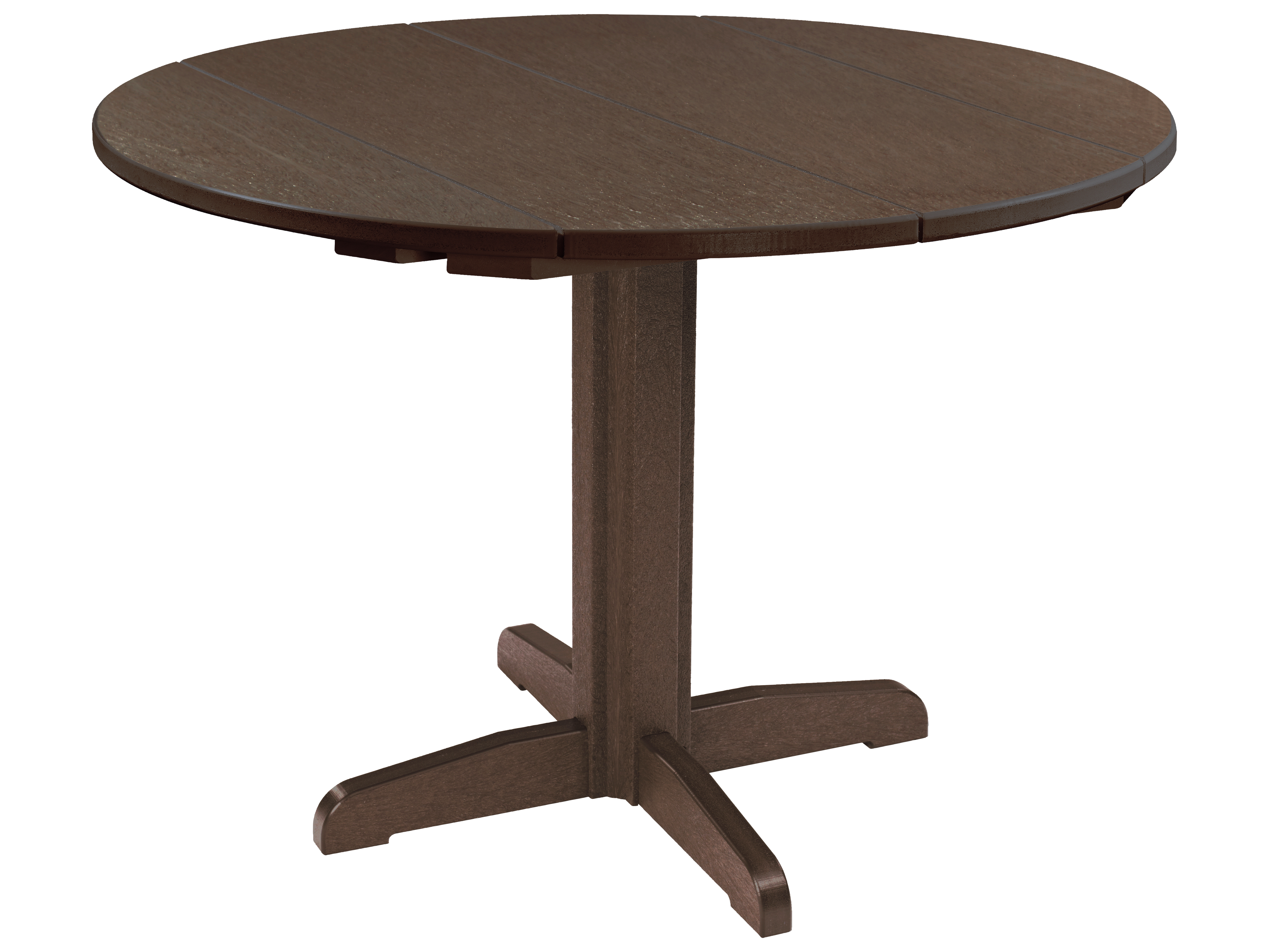c r plastic generation recycled plastic 40 39 39 wide round pedestal dining table kit tt04tb12. Black Bedroom Furniture Sets. Home Design Ideas
