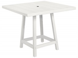 C.R. Plastic Generation Recycled Plastic 40'' Wide Square Bar Table