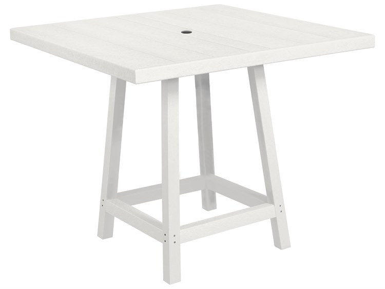 C.R. Plastic Generation Recycled Plastic 40'' Wide Square Bar Table PatioLiving