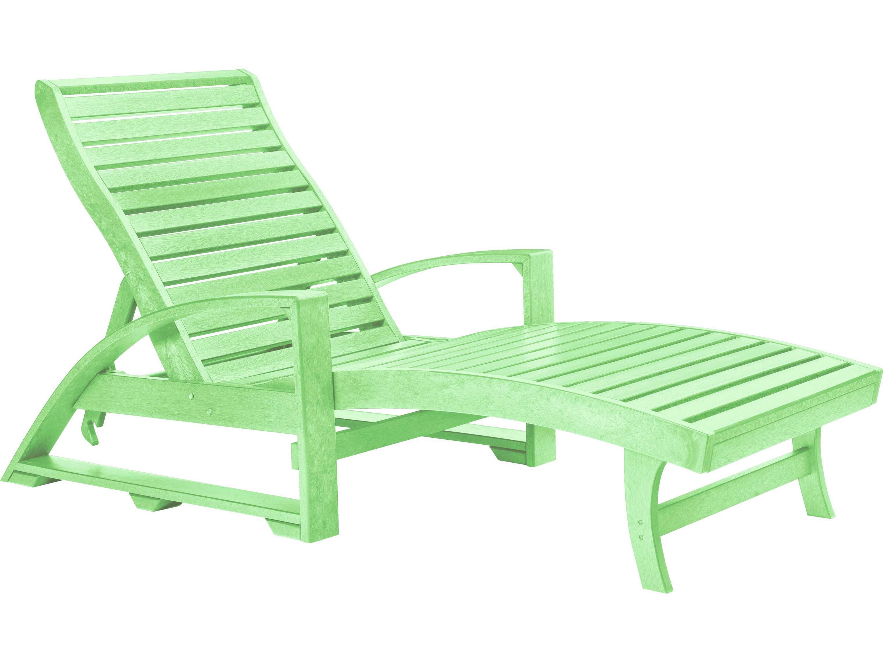 C r plastic st tropez chaise lounge with wheels l38 for Chaise longue jardin pvc