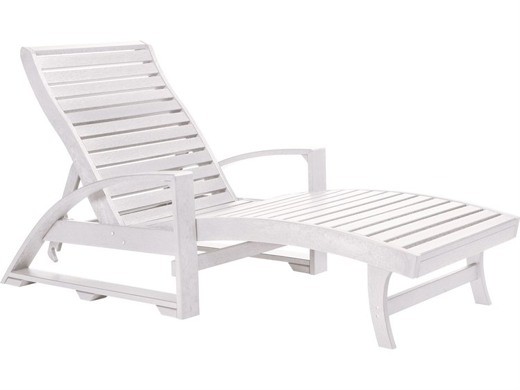 C.R. Plastic St Tropez Recycled Plastic Chaise Lounge