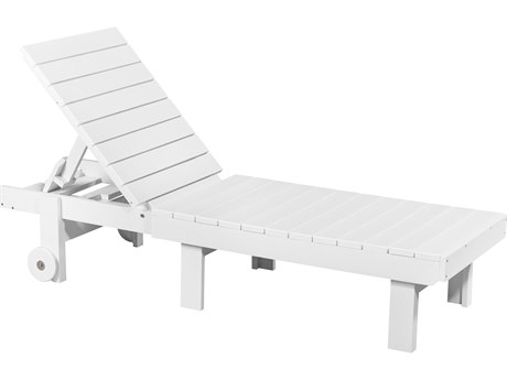 C.R. Plastic St. Tropez Recycled Plastic Chaise Lounge with wheels