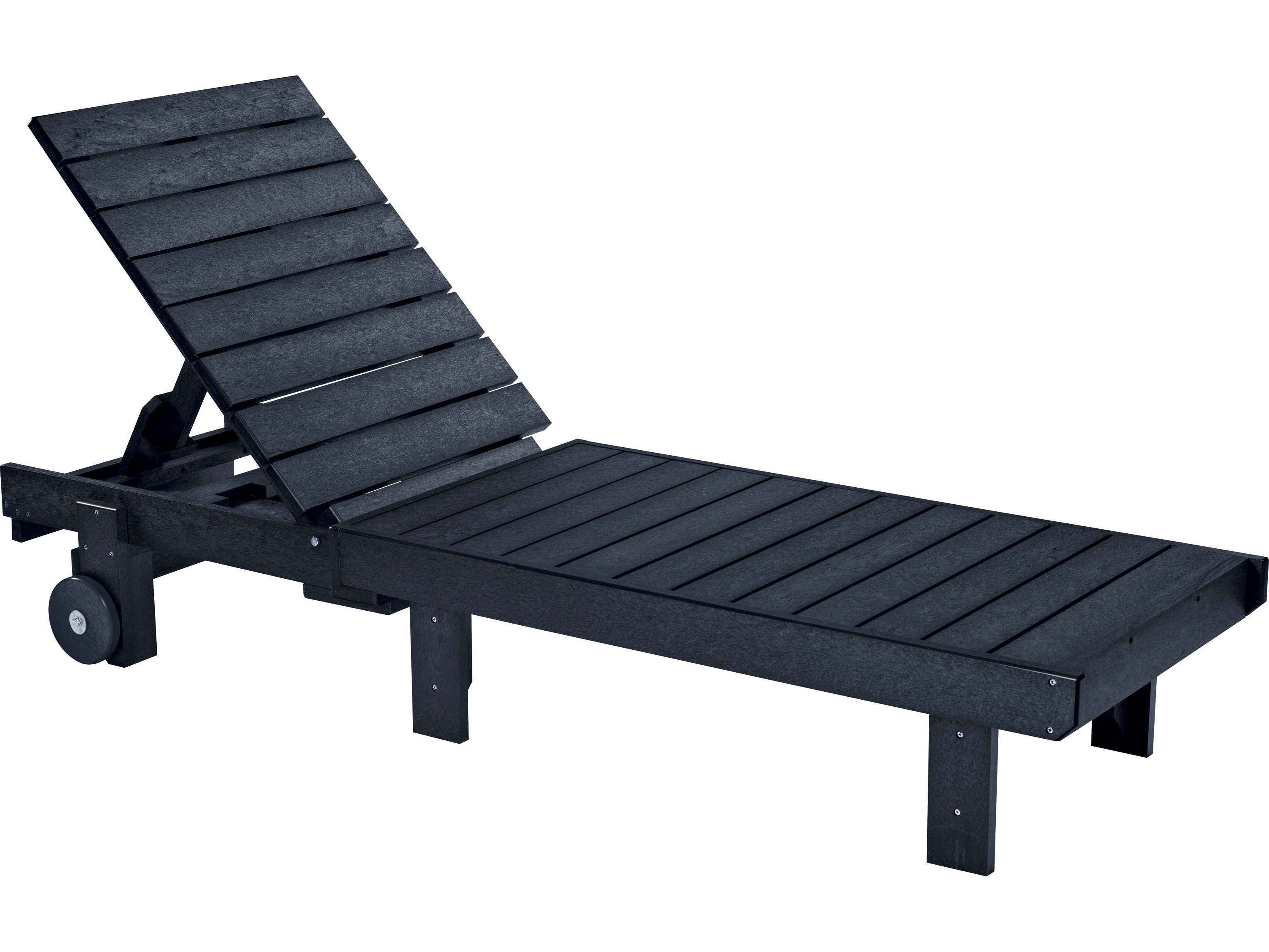 C r plastic generation chaise lounge l78 for Chaise longue jardin pvc