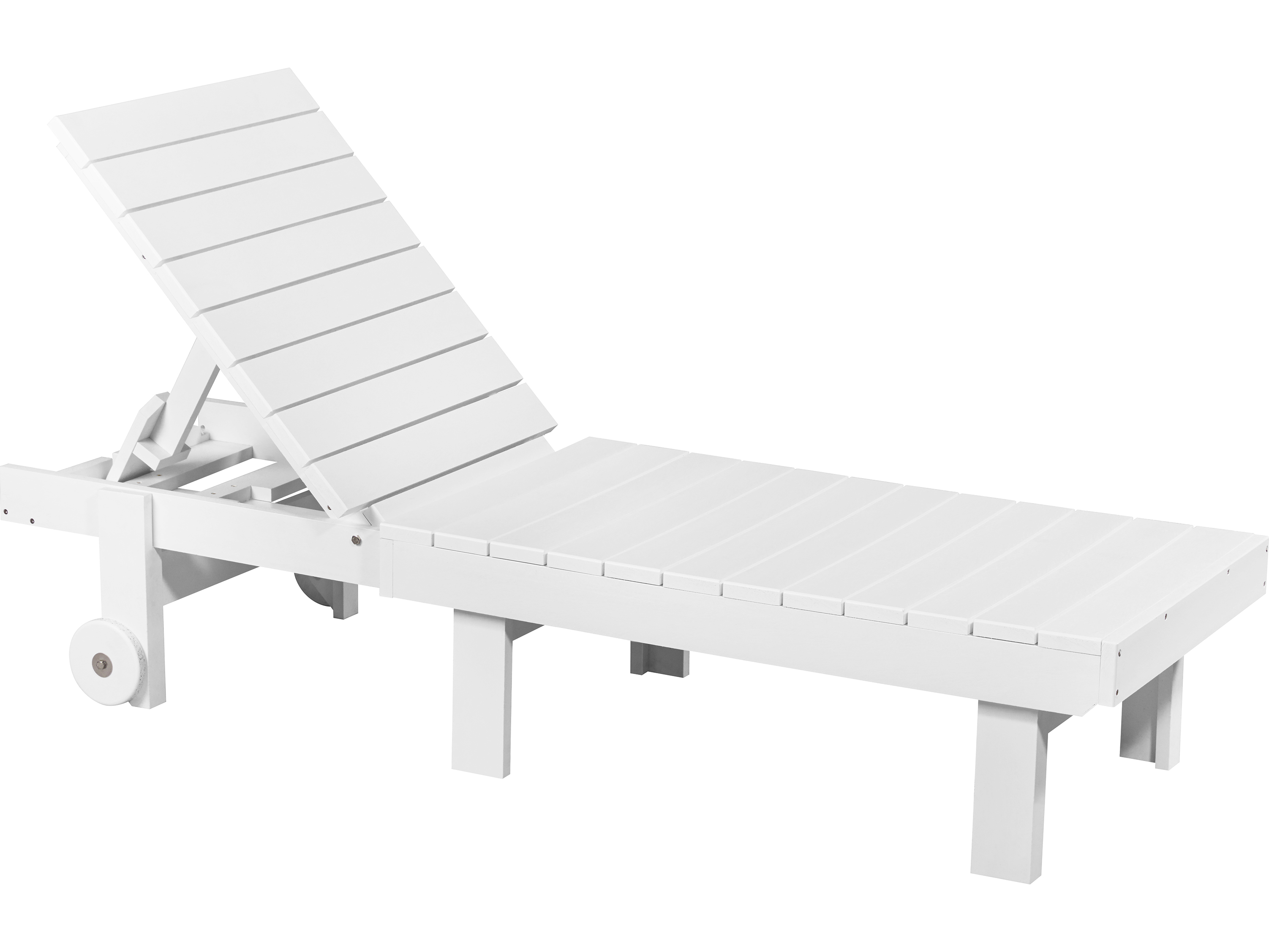 - CR Plastic Generation Recycled Plastic Chaise Lounge With Wheels