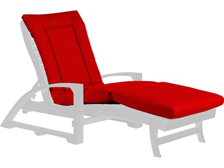 C.R. Plastic Chaise Lounge Cushion Pad PatioLiving