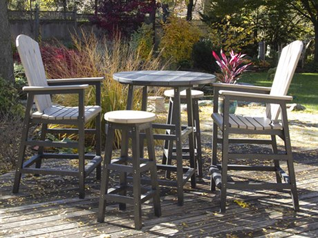 C.R. Plastic Generation Bar Dining Set With Bar Chairs and Bar Stools PatioLiving