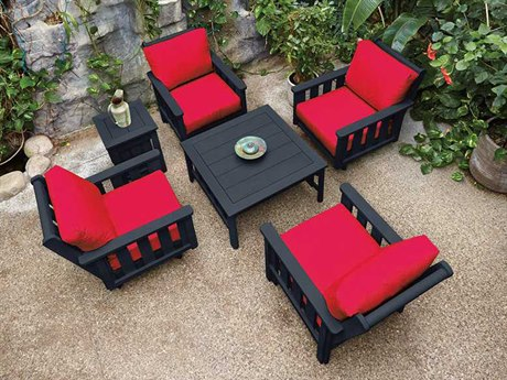 C.R. Plastic Stratford Recycled Plastic  Deep Seating  Lounge Set