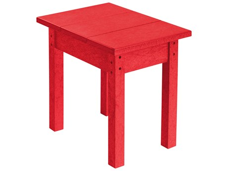 C.R. Plastic Generation Recycled Plastic 18''W x 13''D Rectangular End Table PatioLiving