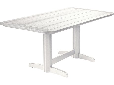 C.R. Plastic Generation Recycled Plastic 72''W x 37''D Rectangular Double Pedestal Dining Table