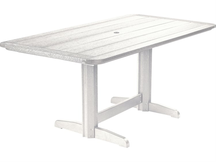 C.R. Plastic Generation Recycled Plastic 72''W x 37''D Rectangular Double Pedestal Dining Table PatioLiving