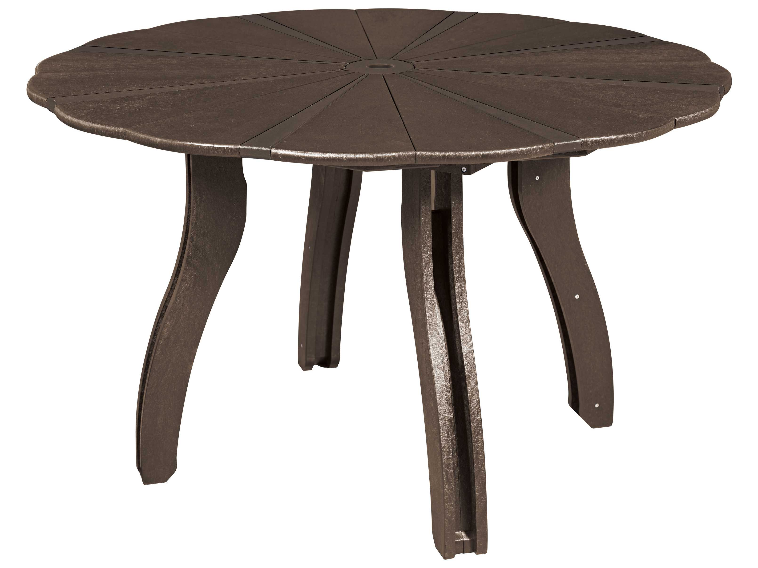 Round Dining Table 52 Inch: C.R. Plastic Generation 52 Scalloped Round Dining Table