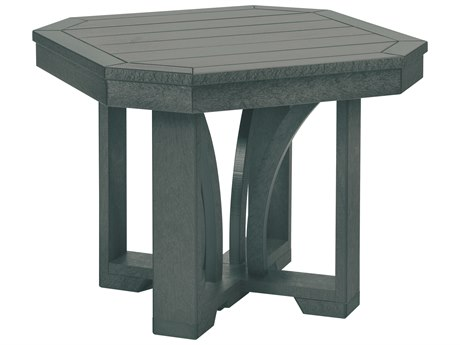 C.R. Plastic St. Tropez Recycled Plastic 24'' Wide Square End Table PatioLiving