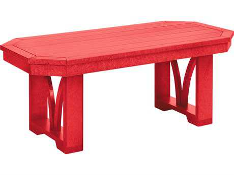 C.R. Plastic St. Tropez  42 x 15 Rectangular Cocktail Table