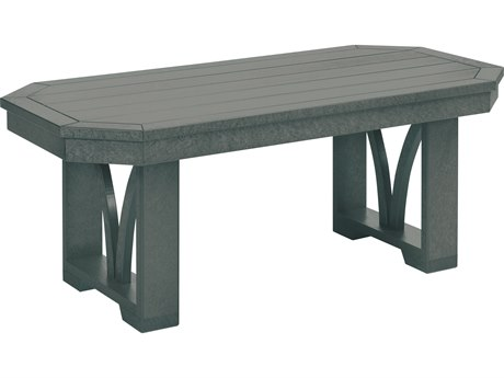C.R. Plastic St. Tropez Recycled Plastic 42''W x 21''D Rectangular Cocktail Table