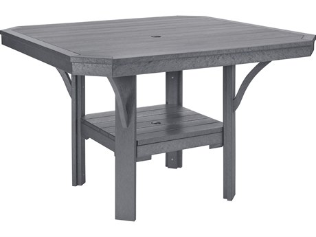 C.R. Plastic St. Tropez 45 Square Dining Table