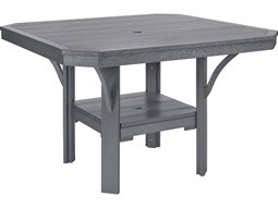 Charmant C.R. Plastic St. Tropez Recycled Plastic 45u0027u0027 Wide Square Dining Table